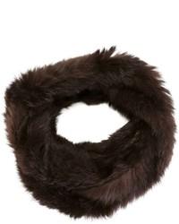 Bufanda de pelo en marrón oscuro de Yves Salomon