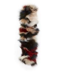 Bufanda de pelo en multicolor