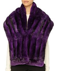 Bufanda de pelo en violeta