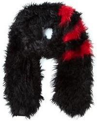 Bufanda de pelo negra de Y-3
