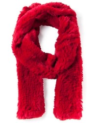 Bufanda de pelo roja