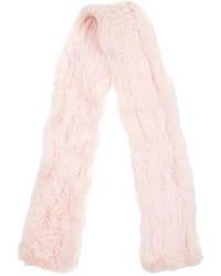 Bufanda de pelo rosada