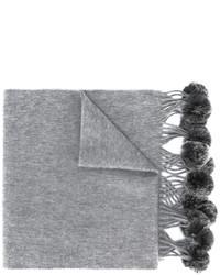 Bufanda de pelo tejida gris de N.Peal