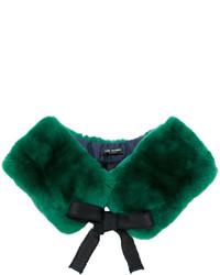 Bufanda de Pelo Verde Oscuro de Yves Salomon