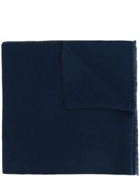 Bufanda de punto azul marino de Gucci