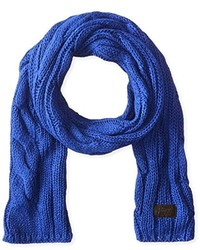 Bufanda de punto azul