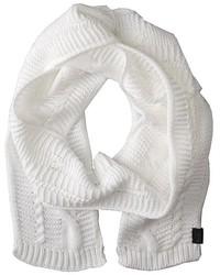 Bufanda de punto blanca