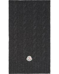 Bufanda de punto en gris oscuro de Moncler