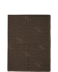 Bufanda de punto en marrón oscuro de Fendi