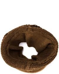 Bufanda de punto marrón de Isabel Benenato