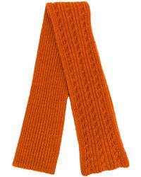 Bufanda de punto naranja