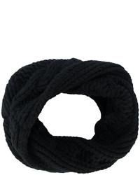 Bufanda de punto negra de Balmain