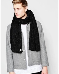 Bufanda de punto negra de Jack and Jones