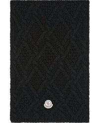 Bufanda de punto negra de Moncler