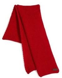 Bufanda de punto roja