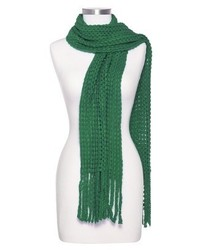 Bufanda de punto verde