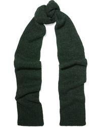 Bufanda de punto verde oscuro de Etoile Isabel Marant