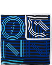 Bufanda de rayas horizontales azul marino de Kenzo