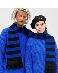 Bufanda de rayas horizontales azul de Collusion