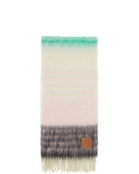 Bufanda de rayas horizontales en beige de Loewe