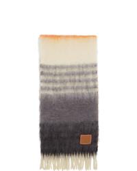 Bufanda de rayas horizontales en gris oscuro de Loewe