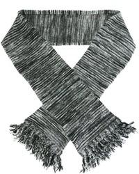 Bufanda de rayas horizontales en gris oscuro de YMC