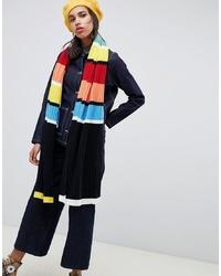 Bufanda de rayas horizontales en multicolor de ASOS DESIGN