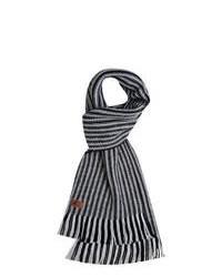 Bufanda de rayas horizontales en negro y blanco
