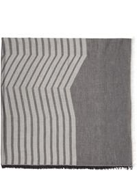 Bufanda de rayas horizontales gris