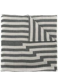 Bufanda de rayas horizontales gris de Etro