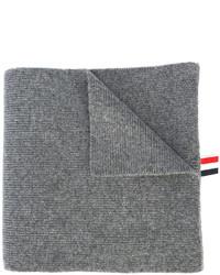 Bufanda de rayas horizontales gris de Thom Browne