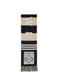 Bufanda de rayas horizontales marrón claro de Loewe