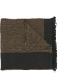 Bufanda de rayas horizontales marrón de Versace