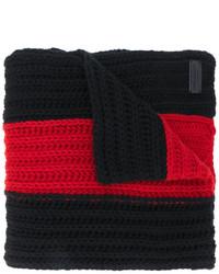 Bufanda de rayas horizontales negra de Dsquared2