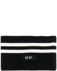 Bufanda de rayas horizontales negra de No.21