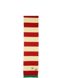 Bufanda de rayas horizontales roja de Gucci