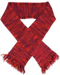 Bufanda de rayas horizontales roja de YMC