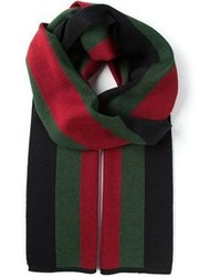 Bufanda de rayas horizontales verde de Gucci