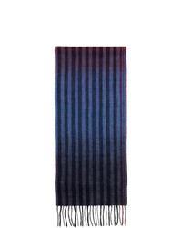 Bufanda de rayas verticales azul marino de Paul Smith