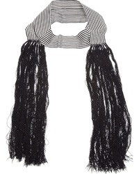 Bufanda de rayas verticales en blanco y negro de Ann Demeulemeester