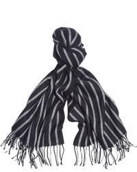 Bufanda de rayas verticales en blanco y negro de J.Crew