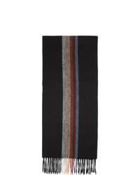 Bufanda de rayas verticales negra de Paul Smith