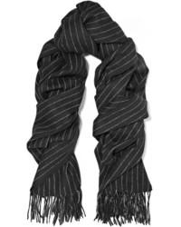 Bufanda de rayas verticales negra de Rag & Bone