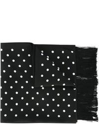 Bufanda de seda a lunares en negro y blanco de Haider Ackermann