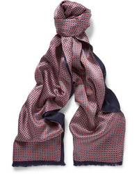 Bufanda de seda azul marino de Brioni