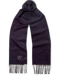 Bufanda de seda azul marino de Canali