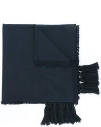 Bufanda de seda azul marino de Chloé