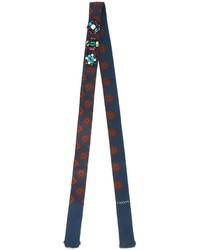 Bufanda de seda azul marino de Lanvin