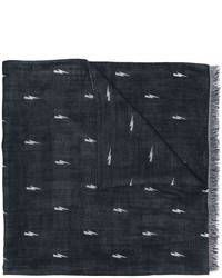 Bufanda de seda azul marino de Neil Barrett