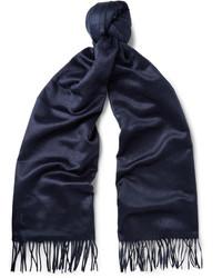 Bufanda de seda azul marino de Tod's